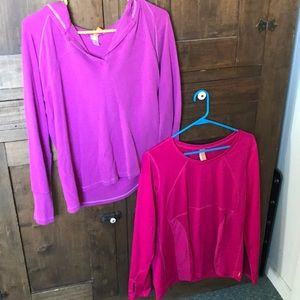 Set of two Lucy brand athletic tops